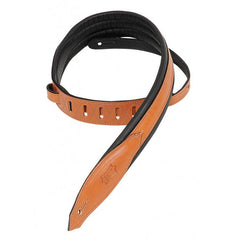 Levy's 2 Inch Carving Leather Guitar Strap - Tan