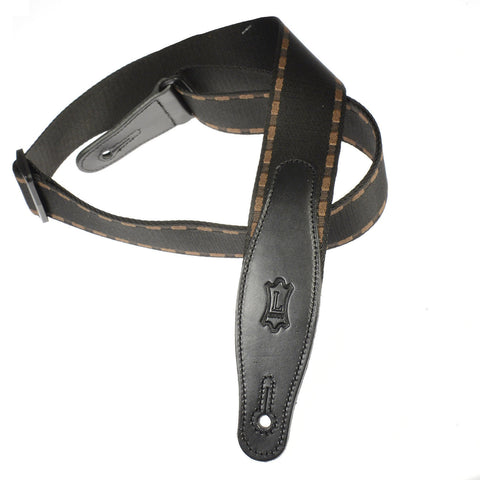 Levy's 2 Inch Woven Guitar Strap with Leather Ends and Tri-Glide Adjustment - Pattern 3