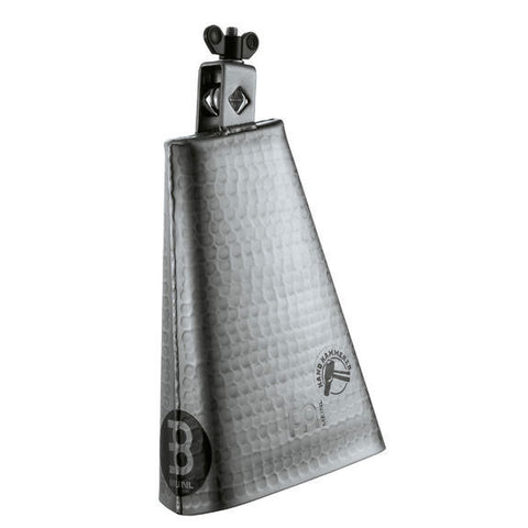 Meinl 8 Inch Big Mouth Hammered Cowbell - Brushed Steel
