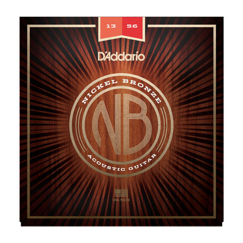 D'Addario NB1356 Nickel Bronze Acoustic String Set Medium 13-56