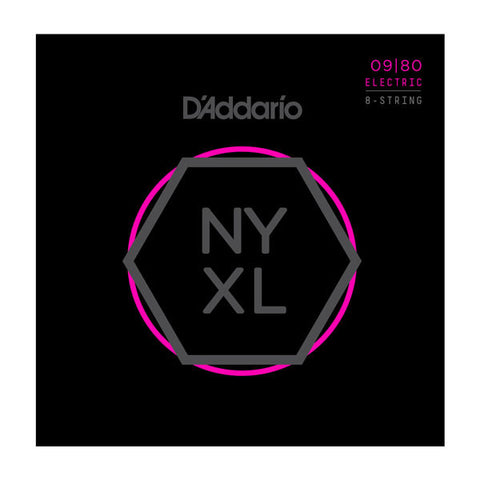 D'Addario NYXL Electric Guitar Strings Super Light 8 String 9-80