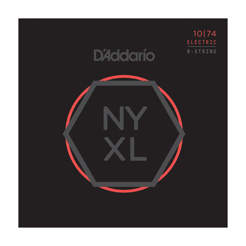 D'Addario NYXL Electric Guitar Strings Light Top/Heavy Bottom 8 String 10-74