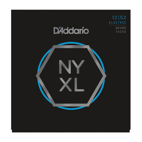 D'Addario NYXL Electric Guitar Strings Lite Wound Third 12-52