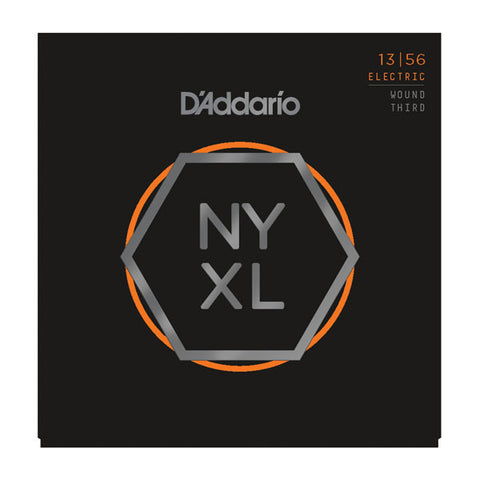 D'Addario NYXL Electric Guitar Strings Medium Wound Third 13-56