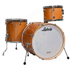 Ludwig Signet 105 GigaBeat 12/14/20 3pc Drum Kit Natural Indian Teak