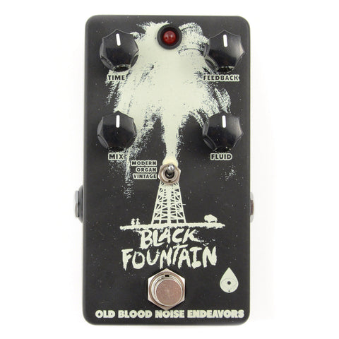 Old Blood Noise Black Fountain Delay Inverse White on Black