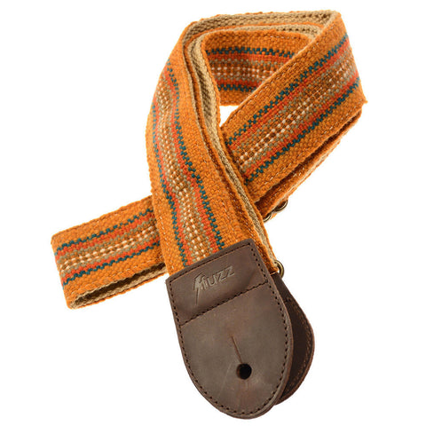 Original Fuzz Peruvian Guitar Strap - Orange Stripes