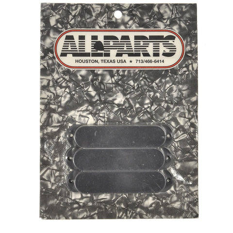 Allparts Pickup Covers for Stratocaster No Holes - Black