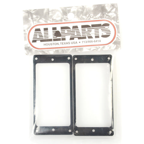 Allparts Humbucker Pickup Rings Set Curved - Black
