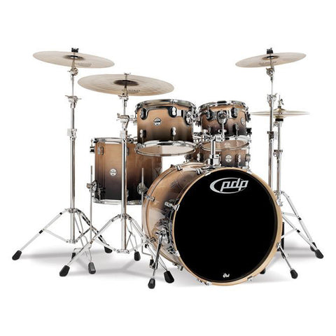PDP CB5 Concept Birch 5pc Drum Kit 10/12/16/22/14x5.5 Natural to Charcoal Fade