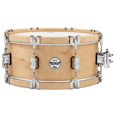 Pacific by DW 7x14 Limited Edition Classic Wood Hoop Snare Drum w/Claw Hooks