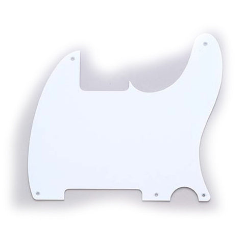Allparts Esquire Pickguard 1-Ply - White