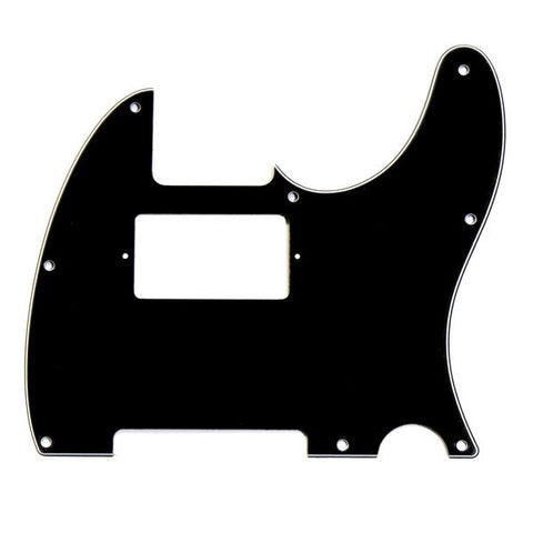 Allparts Pickguard for Telecaster Humbucker (Neck) 8-Hole 3-Ply Black