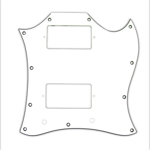 Allparts Pickguard for Gibson¬ SG¬ Large 3-Ply White