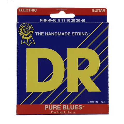 DR Strings PHR-9/46 Pure Blues Electric Guitar Strings Lite & Heavy 9-46
