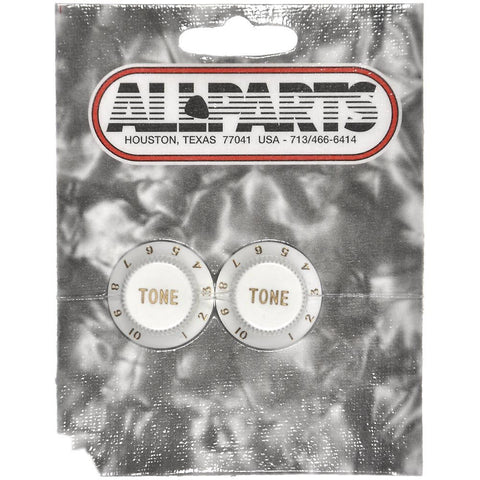 Allparts Tone Knobs - White