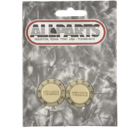Allparts Volume Knobs - Vintage Cream