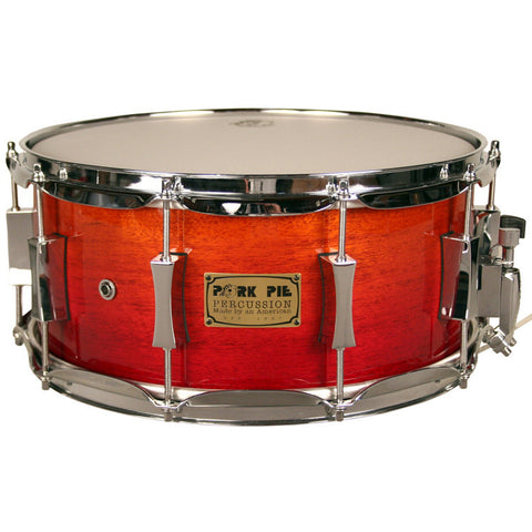 Pork Pie 7x14 African Mahogany 10 Ply High Gloss Snare Drum