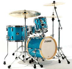 Sonor Martini 8/13/14/5x12 4pc Drum Kit Emerald Isle Turquoise Sparkle