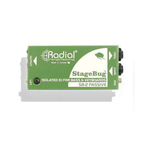 Radial StageBug SB-2 Passive Direct Box for Bass & Keys