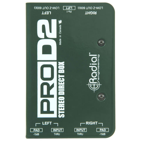 Radial Pro-D2 Passive 2-Channel Direct Box