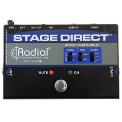 Radial StageDirect Active Direct Box w/Mute Footswitch