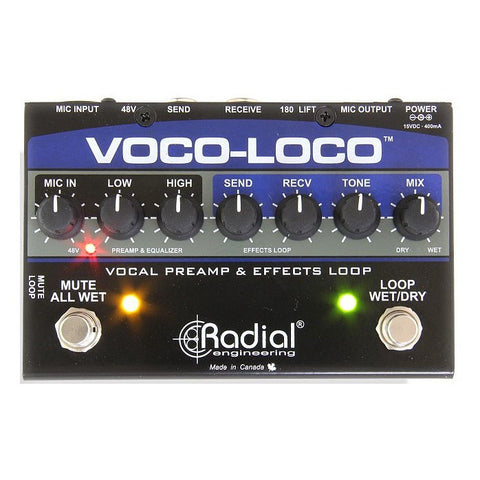 Radial Voco-Loco Effects Interface for Vocals