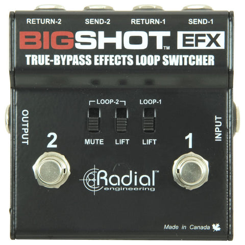 Radial Big Shot EFX True-Bypass Effects Loop