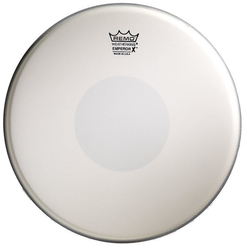 Remo 14 Inch Batter Emperor X Coated Black Dot Bottom Drum Head