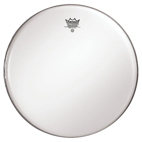 Remo 13 Inch Batter Ambassador Smooth White Drum Head