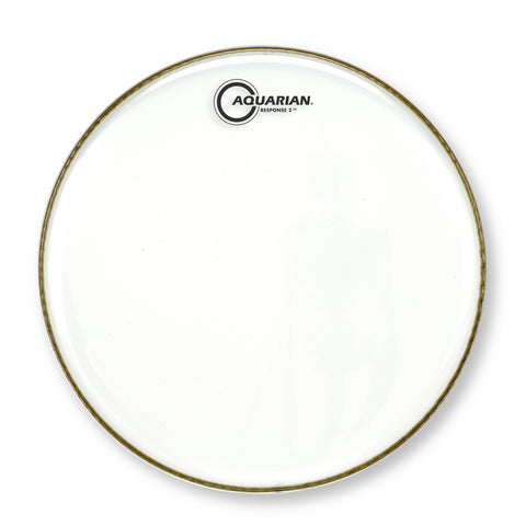 Aquarian 12 Inch Response 2 Clear Batter Drum Head