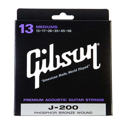 Gibson Gear J-200 Phosphor Bronze Acoustic Guitar Strings 13-56
