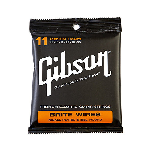 Gibson Gear Brite Wires Electric Guitar Strings Medium Light 11-50