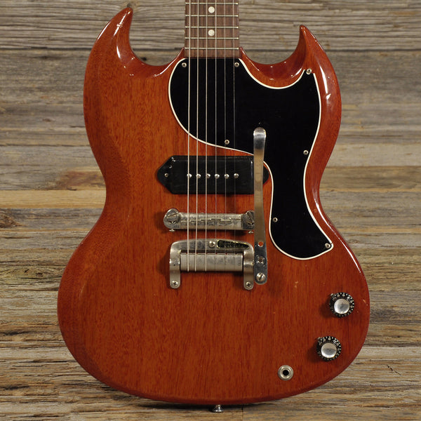 gibson sg junior with tremolo cherry red 1963 price reduced chicago music exchange. Black Bedroom Furniture Sets. Home Design Ideas