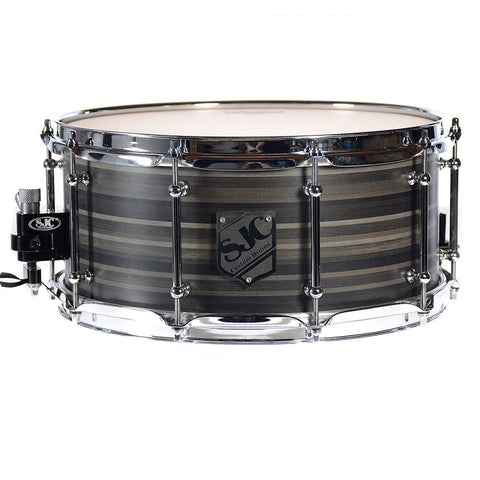 SJC 6.5x14 10ply Ebony Ribbonwood Snare Drum w/Single Tube Lugs