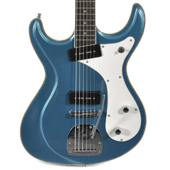Eastwood Sidejack Baritone Deluxe Metallic Blue Floor Model