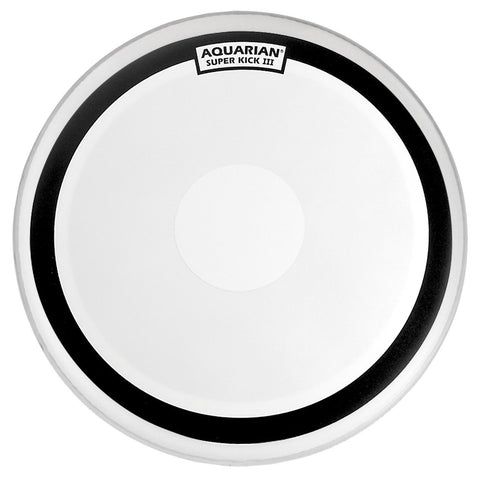 Aquarian 20 Inch Super Kick III Coated Bass Drum Head w/Power Dot