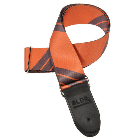 Souldier SLDR Guitar Strap - Charger Orange w/Grey Stripe