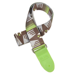 Souldier SLDR Guitar Strap - Thunderbird Lime Green & Grey