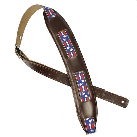 Souldier Saddle Strap Stars & Bars w/Brown Strap & Brown Pad