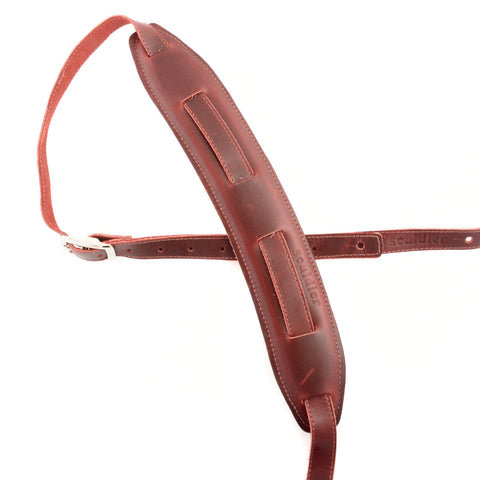 Souldier Saddle Strap Plain Red Strap & Red Pad