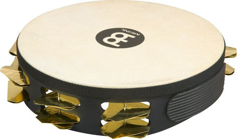 Meinl Headed Super Dry Studio Tambourine, 2 Row (Black)