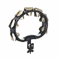 Meinl ABS Mountable Tambourine Super Dry Steel Jingles Black