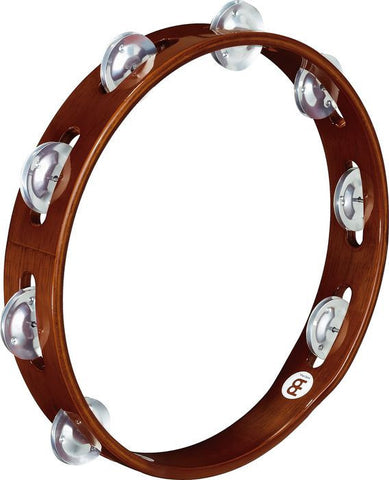 Meinl Wood Tambourine Aluminum Jingles 1 row version