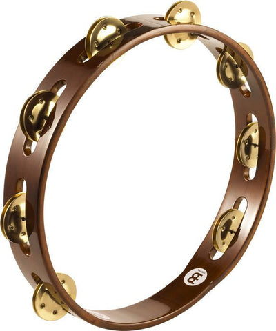 Meinl Wood Tambourine Brass Jingles 1 row version