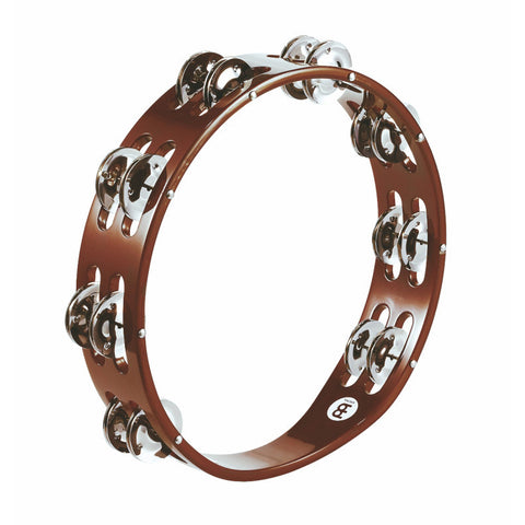 Meinl Wood Tambourine Steel Jingles 2 row version