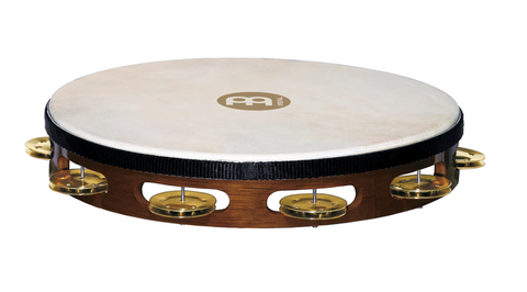 Meinl Headed Wood Tambourine Brass Jingles 1 row version