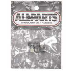 Allparts Press Fit Hex Tuning Key Bushings - Nickel