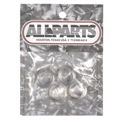 Allparts Press Fit Bass Tuning Key Bushings - Nickel