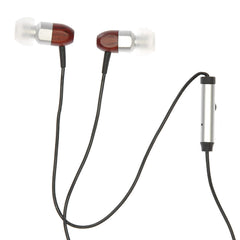Thinksound ts02+mic Headphones w/Microphone Silver/Cherry